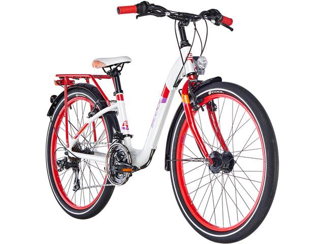 s'cool chiX 24 21-S Børnecykel alloy rød/hvid (2019) | City-cykler